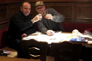 Alain und ich bei der Arbeit...