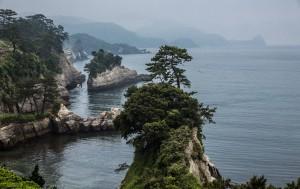 Zerklüftete Küste auf der Halbinsel Izu