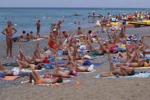 Strand am Schwarzen Meer