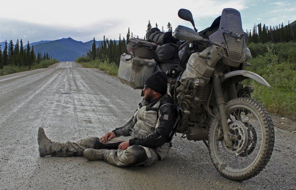 Mit der XT660Z irgendwo im Norden Alaskas