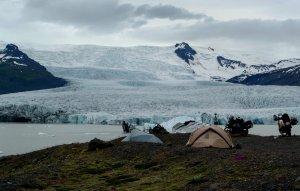 Island - Zelt Eisberge