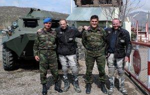Freundliche Soldaten in Kurdistan