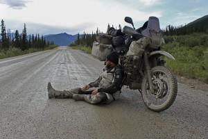 24 - Pause irgendwo in Alaska - viele Tage sind sehr strapaziös